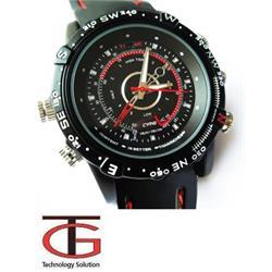 שעון ריגול ספורטיבי אטום למים עם מצלמה מובנית