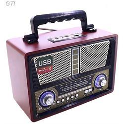 רדיו רטרו בעיצוב ייחודי , משולב רמקול Bluetooth כניסת USB ונגן MP3 | רמקול עוצמתי במיוחד