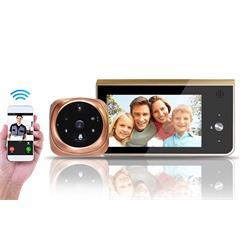 עינית דיגיטלית אלחוטית HD עם צג ענק 4.5 אינץ