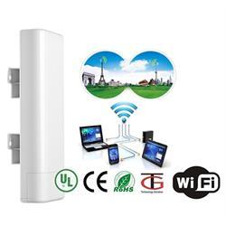 מגדיל טווח קליטה ושידור אלחוטי עוצמתי של רשת האינטרנט עד 7000 מטר, מתאים לתנאי חוץ קשים במיוחד