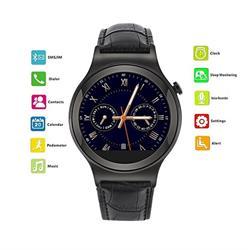 שעון יד יוקרתי ומעוצב משולב טלפון חכם עצמאי עם כרטיס SIM, חיבור Bluetooth, ותמיכה מלאה בעברית