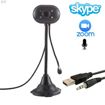 מצלמת רשת USB למחשב WEBCAM כולל מיקרופון מובנה ותאורת לד