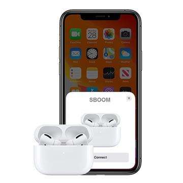 אוזניות בלוטות' SBOOM טאץ' 5.0 Bluetooth סטריאו TWS אלחוטיות מיקרופון מובנה וערכת הטענה !