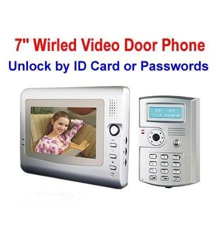 אינטרקום לבית משולב מצלמה ומסך 7 אינץ עם קודן לפתיחת השער או הדלת