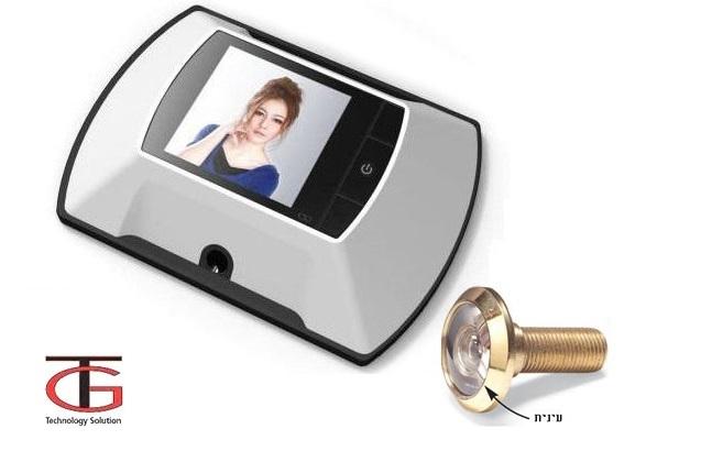 מצלמת עינית לדלת עם צג LCD צבעוני